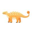 dinosaur cartoon icon vector image