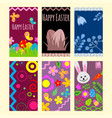 easter eggs cards painted with spring vector image
