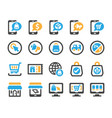ecommerce icon set vector image vector image