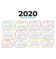 elegant 2020 calendar design template in line