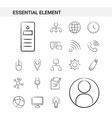 essential element hand drawn icon set style vector image vector image