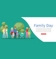 family day with traditional family father mother vector image vector image