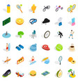 fitness icons set isometric style vector image vector image