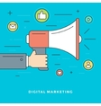 Flat line Digital Marketing Concept vector image