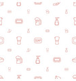 foam icons pattern seamless white background vector image vector image