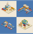 freight transport near industrial facilities vector image