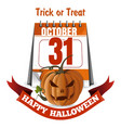 halloween design happy halloween trick or treat vector image vector image