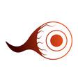 halloween eye isolated icon vector image vector image