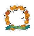 Halloween wreath 3 vector image vector image