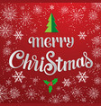 hand drawn lettering - merry christmas elegant vector image vector image