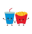 happy smiling funny cute soda vector image vector image