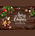 holiday gingerbreads card vector image