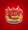 hot dogs logo design template emblem badge vector image vector image