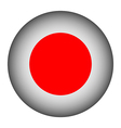 Japan flag button vector image vector image