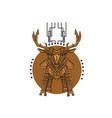 killer deer vector image vector image