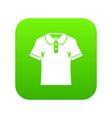 men polo shirt icon digital green vector image vector image