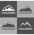 Mountain flat icons on gray background vector image vector image