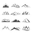 Mountains logo travel vector image vector image