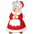 mrs claus vector image vector image