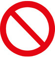 not allowed sign vector image vector image