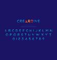 original font in blue colour for creative design vector image