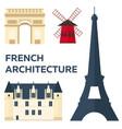 paris tourism travelling paris city vector image
