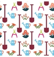 Pattern with Gardening Equipment vector image vector image