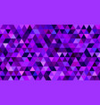 purple bg with triangles dark violet pattern vector image