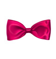 Realistic pink bow isolated on white background