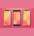 realistic smartphone mockup with blank display vector image vector image