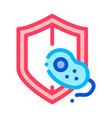 safeguard healthcare bacteria sign icon vector image vector image