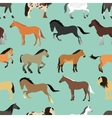 Seamless pattern with horse in flat style vector image vector image