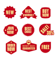 set different advertising and promotion banners vector image vector image