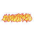 set graffiti numbers vector image