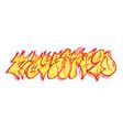 set graffiti numbers vector image vector image
