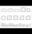 set of icons for architectural plans