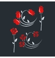 set of rose flowers design background vector image
