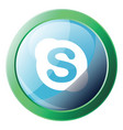 skype bubble with round green frame icon on a vector image vector image