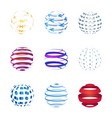 sphere icons set isolated on white background vector image