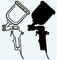 Spray gun vector image