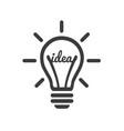 stylized sign lightbulb logotype new idea vector image vector image