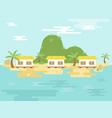 summer holiday resort island poster vector image vector image
