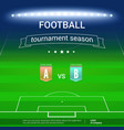 template of football championship with template of vector image vector image