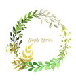 watercolor herbs and flowers wreath image vector image vector image
