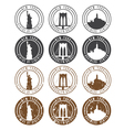 vintage labels set with landmarks of New York City vector image