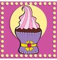 Simple figure cupcake in vintage style vector image