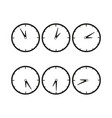clocks with difference time icon vector image