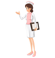 A health care practitioner vector image vector image