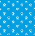 beach ball pattern seamless blue vector image
