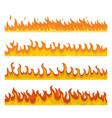 bonfire night fire banner concept set flat style vector image vector image